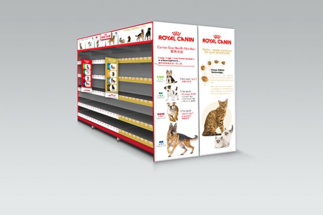 Royal Canin Shelf Display